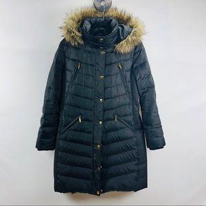 Micheal Kors Black hooded puffer coat